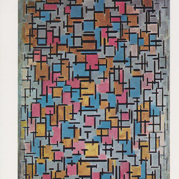 "Paul Mondrian ""Composition"" -- 1990s, Printed in US. Condition 9/10"