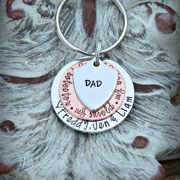 Dad Keychain Dad Gift Grandpa Keychain Daddy keychain Gift for Dad Father's Day Christmas gift for dad