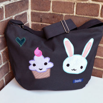 Bike crossbody bag bike messenger bag cycling bag applicated cute bunny rabbit animal ice cream muffin sweet adorable 1.1 BASIC COLLECTION