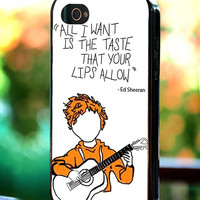 Silicone - Plastic - Ed Sheeran Lyrics Poster - iPhone 4/4s, 5, 5s, 5c, Samsung S3, S4