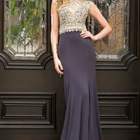 Cap Sleeve Jersey Dress 24952 - Prom Dresses