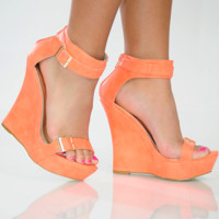 When I Walk Away Wedges: Peach