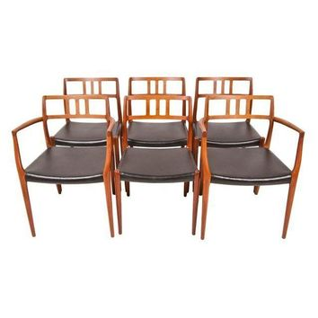 Pre-owned Niels Moller Danish Teak Dining Chairs - Set of 6