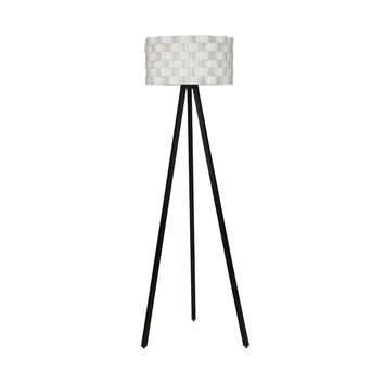 Bijou Tripod Floor Lamp - Contemporary Design for Modern Living Rooms - Soft Ambient Lighting - Made with Natural Wood - Classic Black Wood