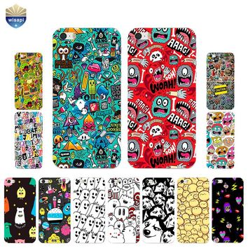 For iPhone SE Phone Case For iPhone 5G 5S Back Cover 4.0 Inch For iPhone 5C Shell Soft TPU Bumper Design Cute Expresses Painted