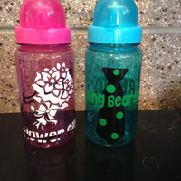 Personalized Flowergirl  and Ring Bearer Monogrammed water Bottle