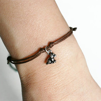 Dog Charm Bracelet / Dog Anklet (many colors to choose)