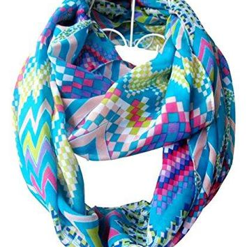 Soft Multi-color Sheer Infinity Scarf