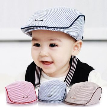 Hot Sale New Stylish Caps Cute Infant Baseball Cap Baby Hat Stripe Beret Fashion