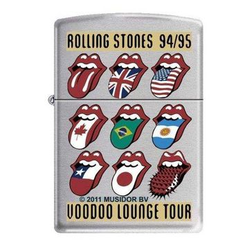 "Zippo ""Rolling Stones-Voodoo Lounge Tour"" Brushed Chrome Lighter, 8596"