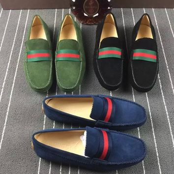 Gucci Men's Suede Leather Fashion Casual Sneakers Shoes
