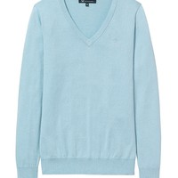 Women's Foxy V-Neck Jumper in Mint Blue from Crew Clothing