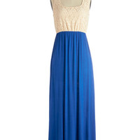 ModCloth Long Sleeveless Maxi Mixed Tape Dress