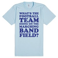 What's The Football Team Doing-Unisex Light Blue T-Shirt