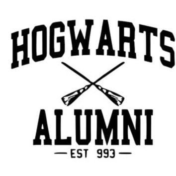 Hogwarts Alumi Vinyl Decal, Hogwarts Student Stickers, Witchcraft and Wizardry, Harry Potter Laptop Decals, Car Window Decals, HP Inspired