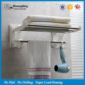 bathroom towel bar with hooks kitchen towel rack suction cup towel holder wall mounted towel rack 43cm