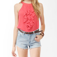 Cascading Ruffled Top