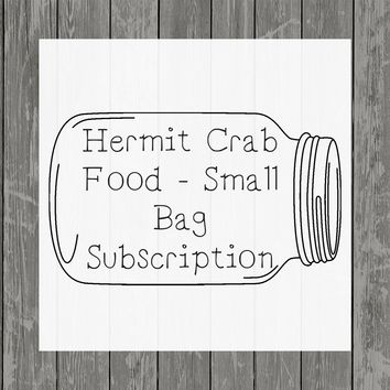 Hermit Crab Food Small Bag Subscription - Hermit Crab Food - Organic - Hermit Crab - Pet Food - Food Subscription