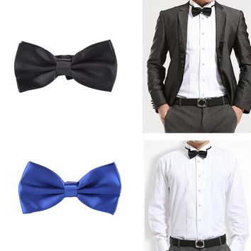 Classic Charming Gentleman Wedding Party Tuxedo Marriage Butterfly Cravat Men's Bow Tie 10 Colors  Popular Fast Shipping
