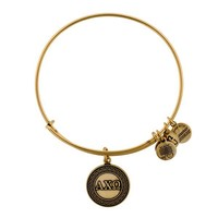 Alex and Ani Alpha Chi Omega Charm Bangle - Russian Gold