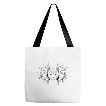 moon and sun Tote Bags