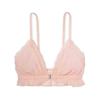 Triangle Bralette Daydream Pink Polka dot Sheer Front Closure