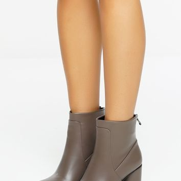 Dellena Booties - Gray