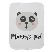 Happy Baby Panda Mommy's Girl Baby Burp Cloth