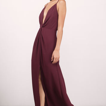 Eyes On You Knotted Maxi Dress