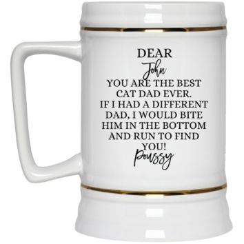 Funny Father's Day Gift For Dad From Wife, Daughter, Son, Stepdaughter, Stepson, Mom, Grandma, Mother In Law (22217 Beer Stein 22oz.)
