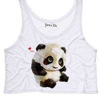 Cute Baby Panda Crop Tank Top