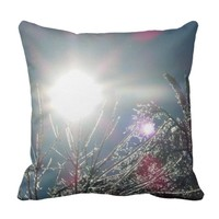 Sparkling Trees Throw Pillow