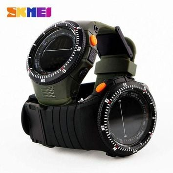 ONETOW Skmei Military Tactical Multifunctional Waterproof Shockproof Watch Durable Outdoor Climbing Running Men Wristwatch Stopwatch