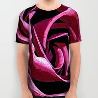 Rose Sketch All Over Print Shirt by Stephen Linhart