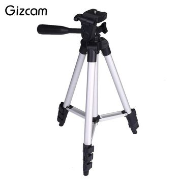 Gizcam Flexible Foldable 3 Sections Adjustable Extendable Aluminum Tripod Mount Stand Phone Digital Cameras Accessories