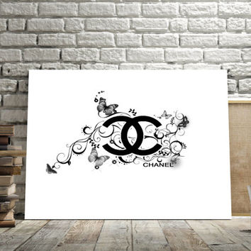 Printable art Coco Chanel art, coco chanel logo, coco chanel style, coco chanel poster, home decor, wall art, print poster,instant download