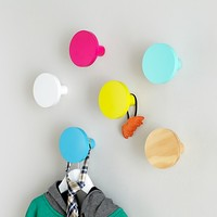 Kids Wall Hooks: Round Wall Knobs in Shelves & Hooks | The Land of Nod