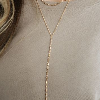 Make Your Point Necklace: Gold