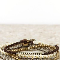 AEO Women's Arm Party Bracelet Set (Gold)