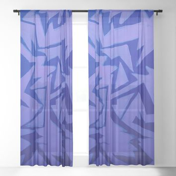 Electric Pop Sheer Curtain by duckyb