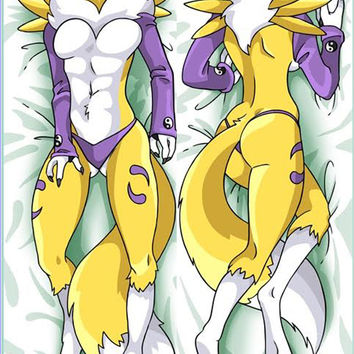 New Renamon Anime Dakimakura Japanese Pillow Custom Designer Furry Dakimakura ADC29