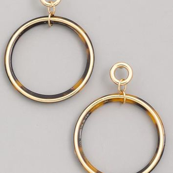 Follow Through Earrings - Tortoise