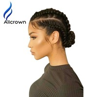 Alicrown Silky Straight Silk Base Full Lace Human Hair Wigs Pre Plucked Brazilian Remy Hair Wig With Baby Hair For Black Women