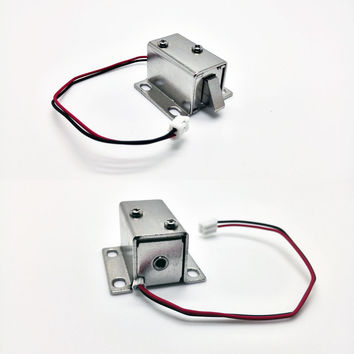 Mini Small Size Solenoid Electromagnetic Electric Control Cabinet Drawer Lock DC 12V