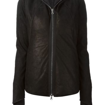 Isaac Sellam Experience leather padded hooded jacket