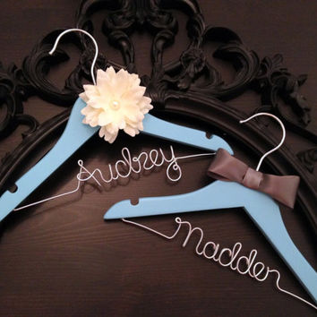 Flower Girl Hanger / Ring Bearer Hanger / Wedding Hanger SET/ Flower Girl Gift / Ring Bearer Gift / Wedding Hanger / Bridal Hanger