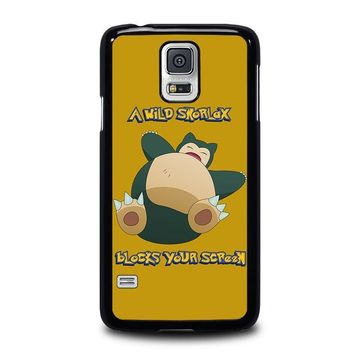 snorlax pokemon samsung galaxy s5 case cover  number 1