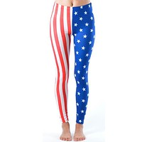 American Stars and Stripes Flag Print Leggings