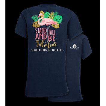 Southern Couture Preppy Fabulous Flamingo T-Shirt