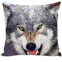 Hungry Wolf Couch Pillow